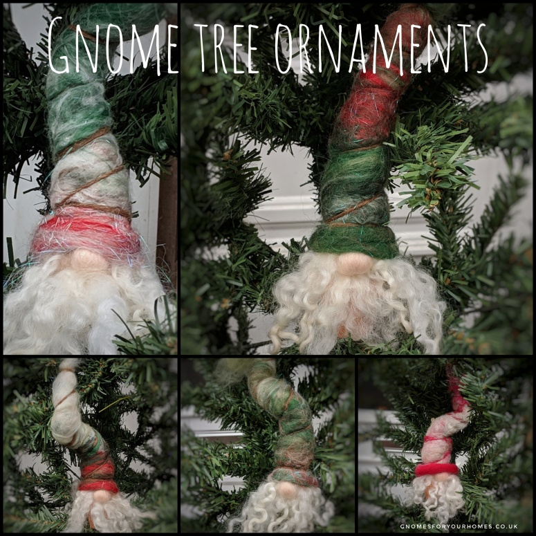 Hand felted gnome ornaments