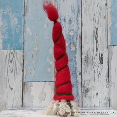 Traditional Tomte with red felt hat